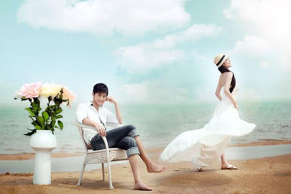 怎样拍摄一套时尚沙滩婚纱照