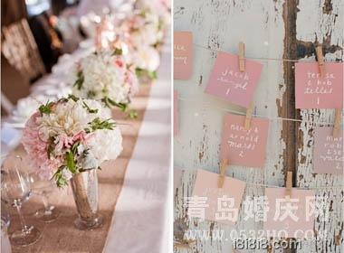从粉色主题看西式婚礼现场布置
