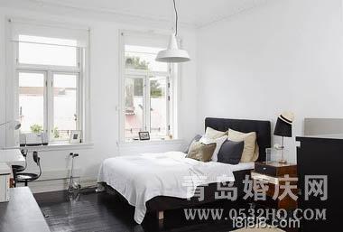 黑白灰北欧风格卧室装修