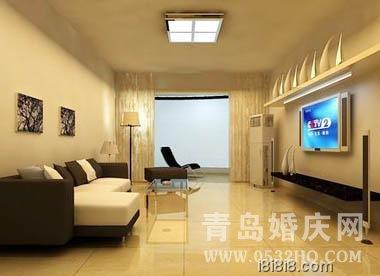 小户型婚房电视背景墙装修推荐