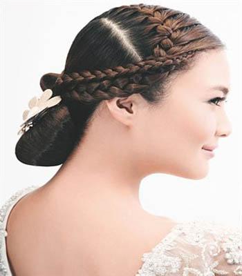 最新流行新娘发型1