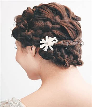 最新流行新娘发型2