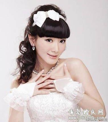 齐刘海新娘造型2