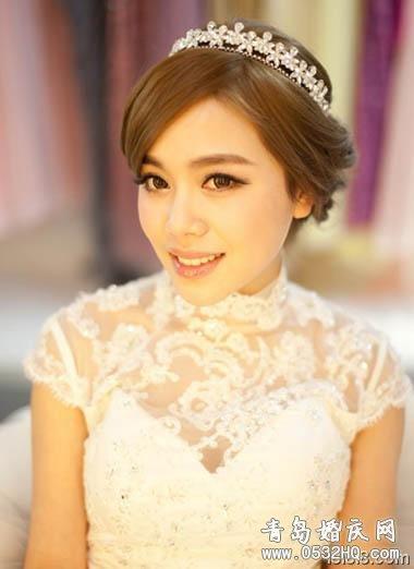中式新娘发型图片 美丽将浪漫融化