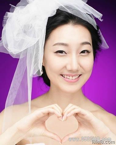 第二款圆脸新娘发型图片