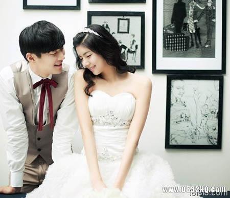 韩式婚纱照新娘发型 让新娘幸福满泄