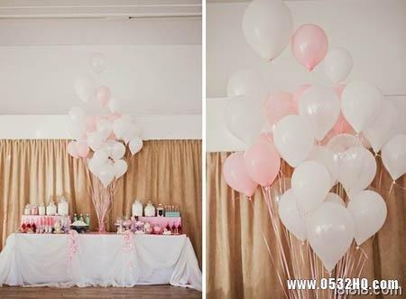 浪漫粉色婚宴现场布置 高雅又显低调