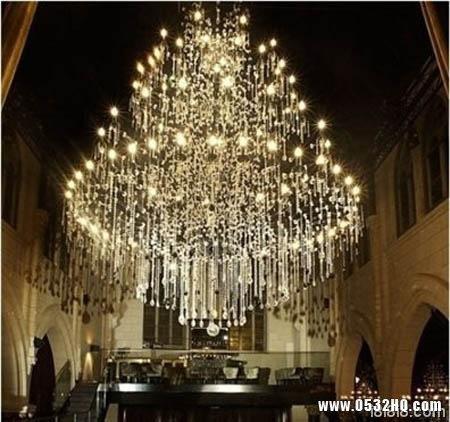 复式楼客厅吊灯3