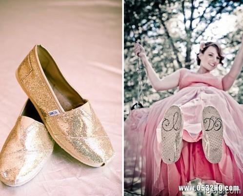 一、婚鞋不一定要高跟鞋