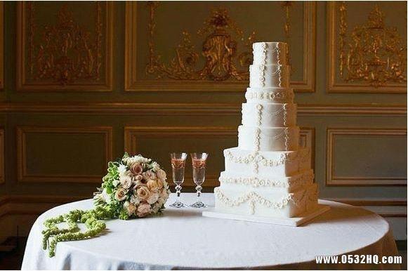 西式白色系婚礼蛋糕