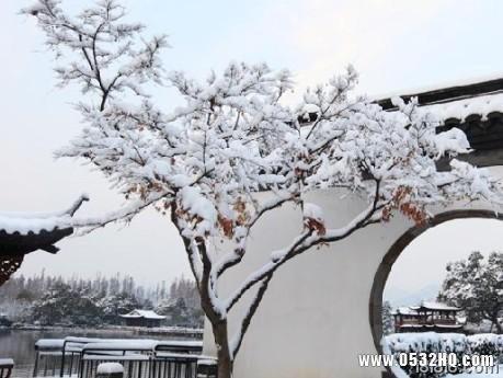 水墨江南的美 冬日杭州西湖旅游图片