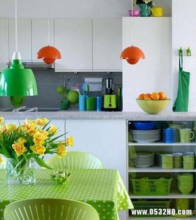 给厨房添点绿 小厨房装修效果图赏析