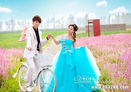 清新田园风格婚纱照 展现不一样的纯美