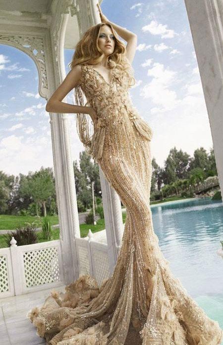 多彩鱼尾婚纱 美丽尽收眼底