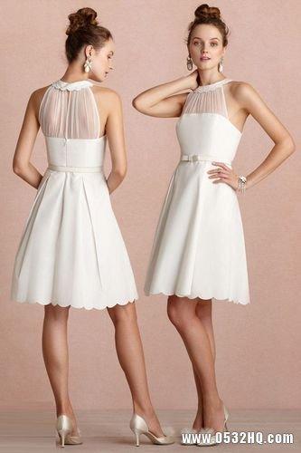 可爱复古伴娘礼服 优雅映衬新娘之美