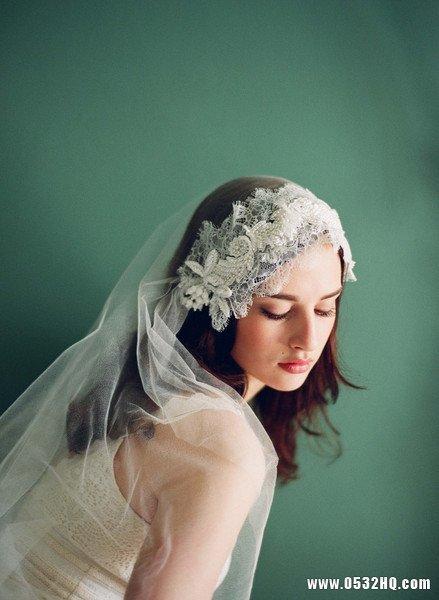 优雅复古头纱 打造最另类时尚新娘