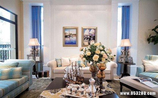 灰蓝双色打造地中海欧式风情家居
