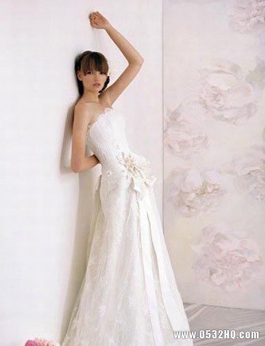 简约小A款婚纱