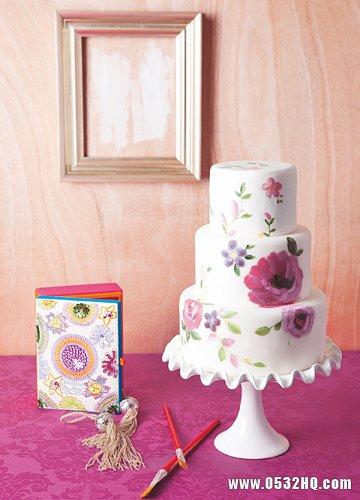 精美个性的涂鸦婚礼蛋糕 尽享艺术魅力