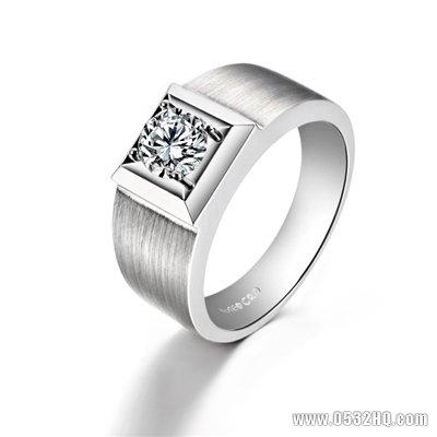 男性怎样挑选戒指?方形钻戒衬托你的气质