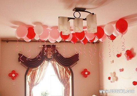 超有爱的气球婚房布置效果图
