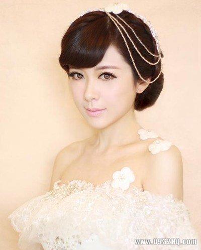 甜美可人的新娘装扮 让女生变身小仙女