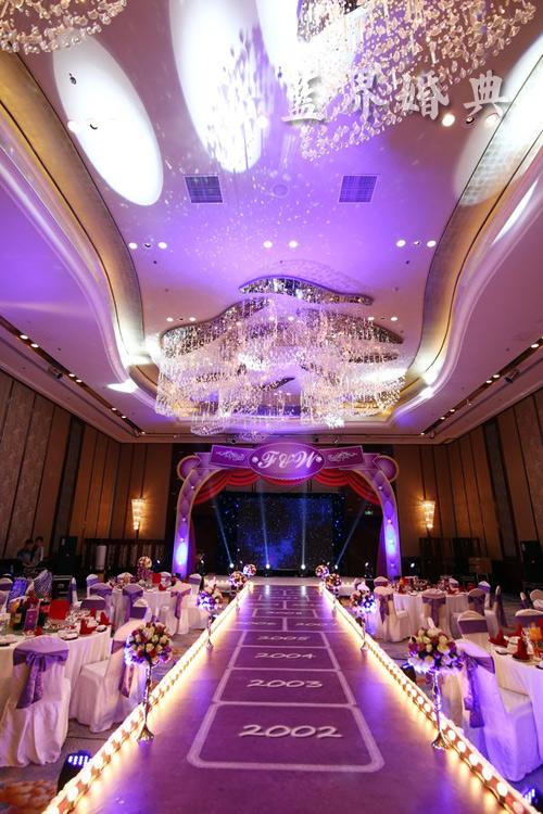 香格里拉紫色梦幻婚礼布置