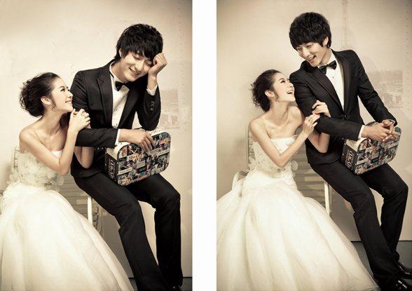 青岛拍韩式婚纱照的摄影工作室