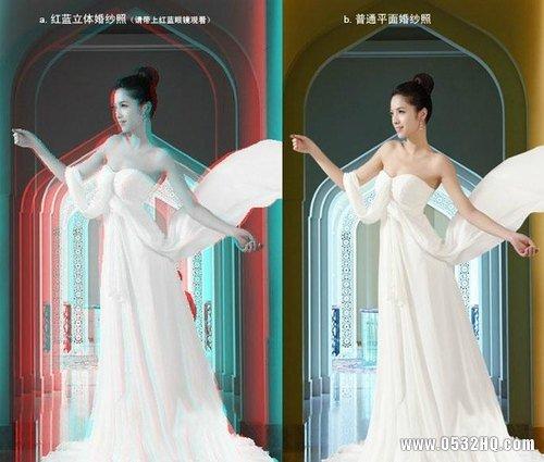 立体婚纱照和普通婚纱照的区别