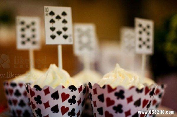 独特个性扑克主题婚礼 感受扑克的爱情魔力