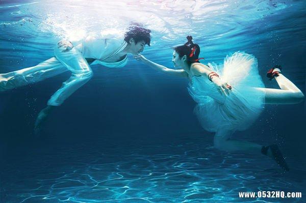 水下婚纱照拍摄的6个注意事项
