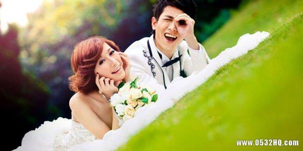 适合大脸新娘拍婚纱照的发型