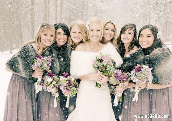 新娘御寒方法 冬季婚礼也能美丽动人