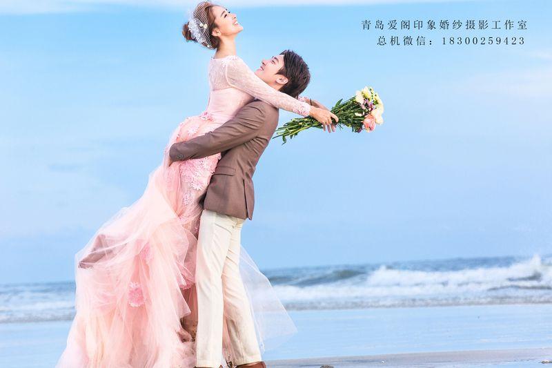 青岛礁石婚纱照欣赏