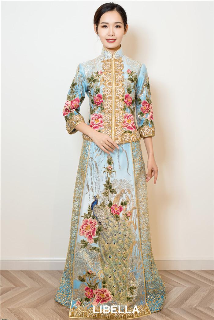 马来褂新娘中式礼服
