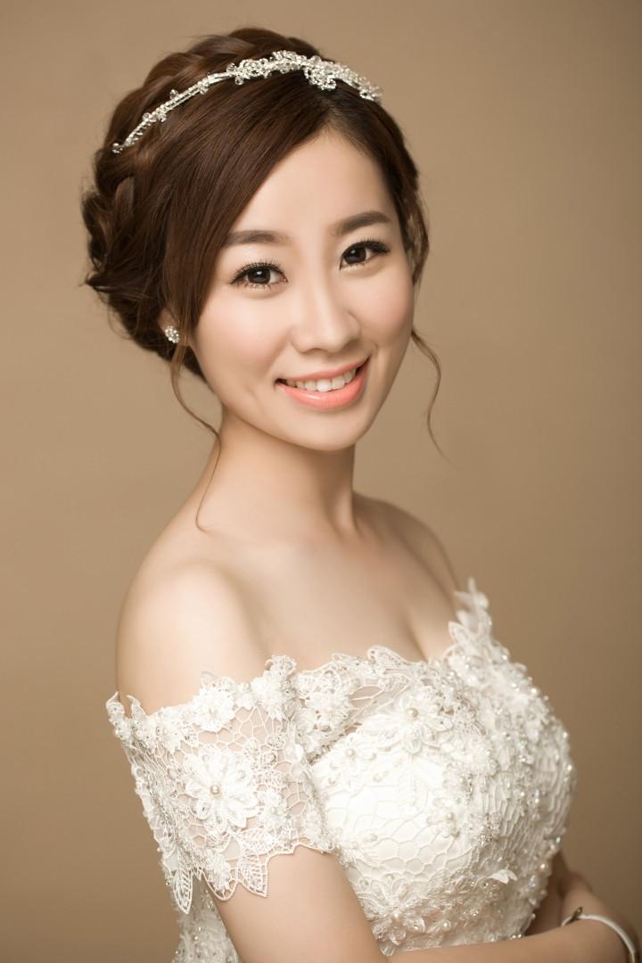 韩式新娘造型 优雅不失甜美