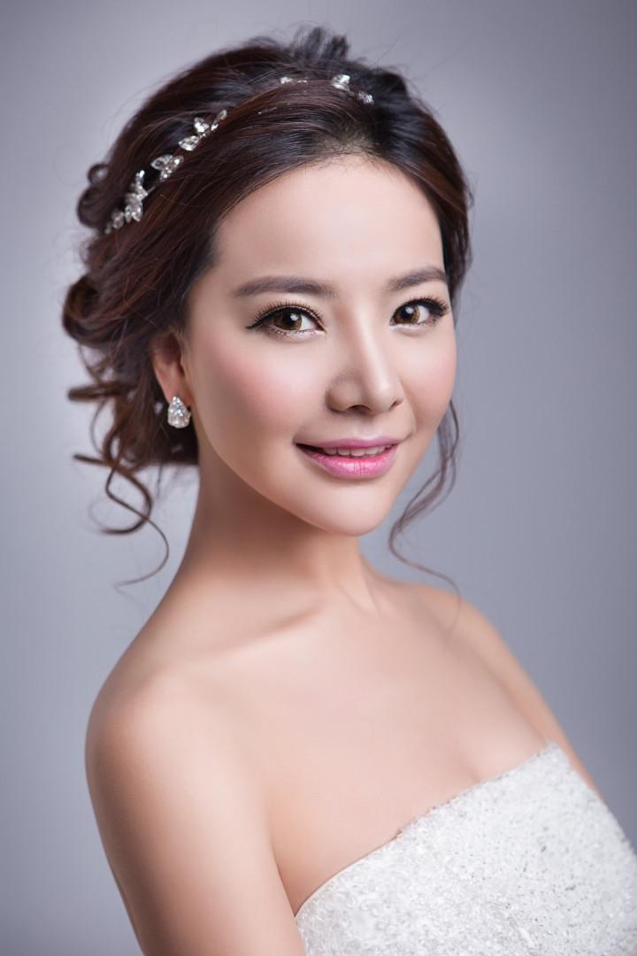 韩式新娘盘发造型图片